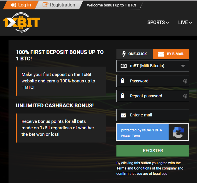 How to get gambling deposit and cashback bonuses on 1xBit