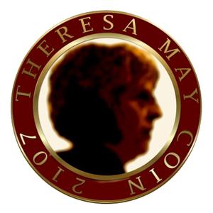 Logo Theresa May Coin