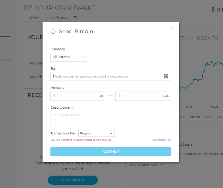 can i send bitcoin to ethereum wallet