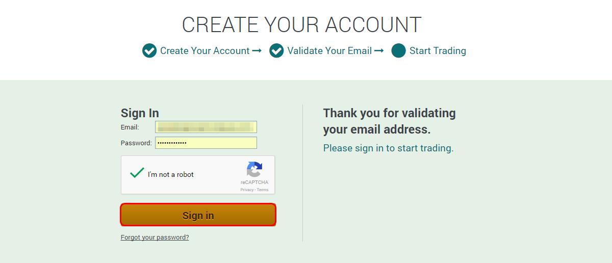 Resultado de imagem para create your account poloniex