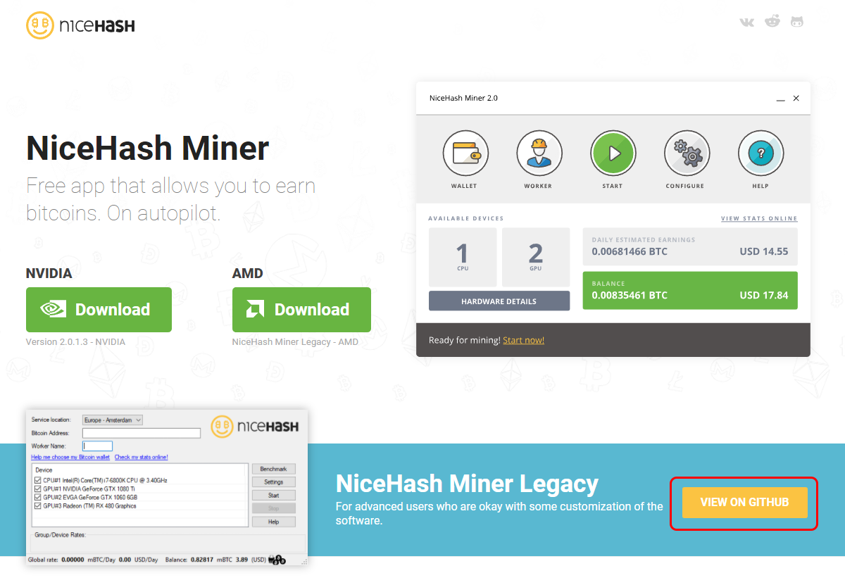 How to Mine Any Coin with NiceHash Legacy | CryptoCompare com