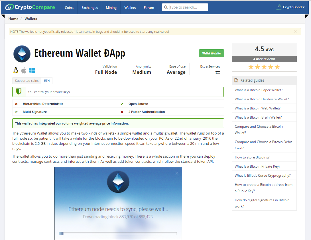 ethereum wallet example profile