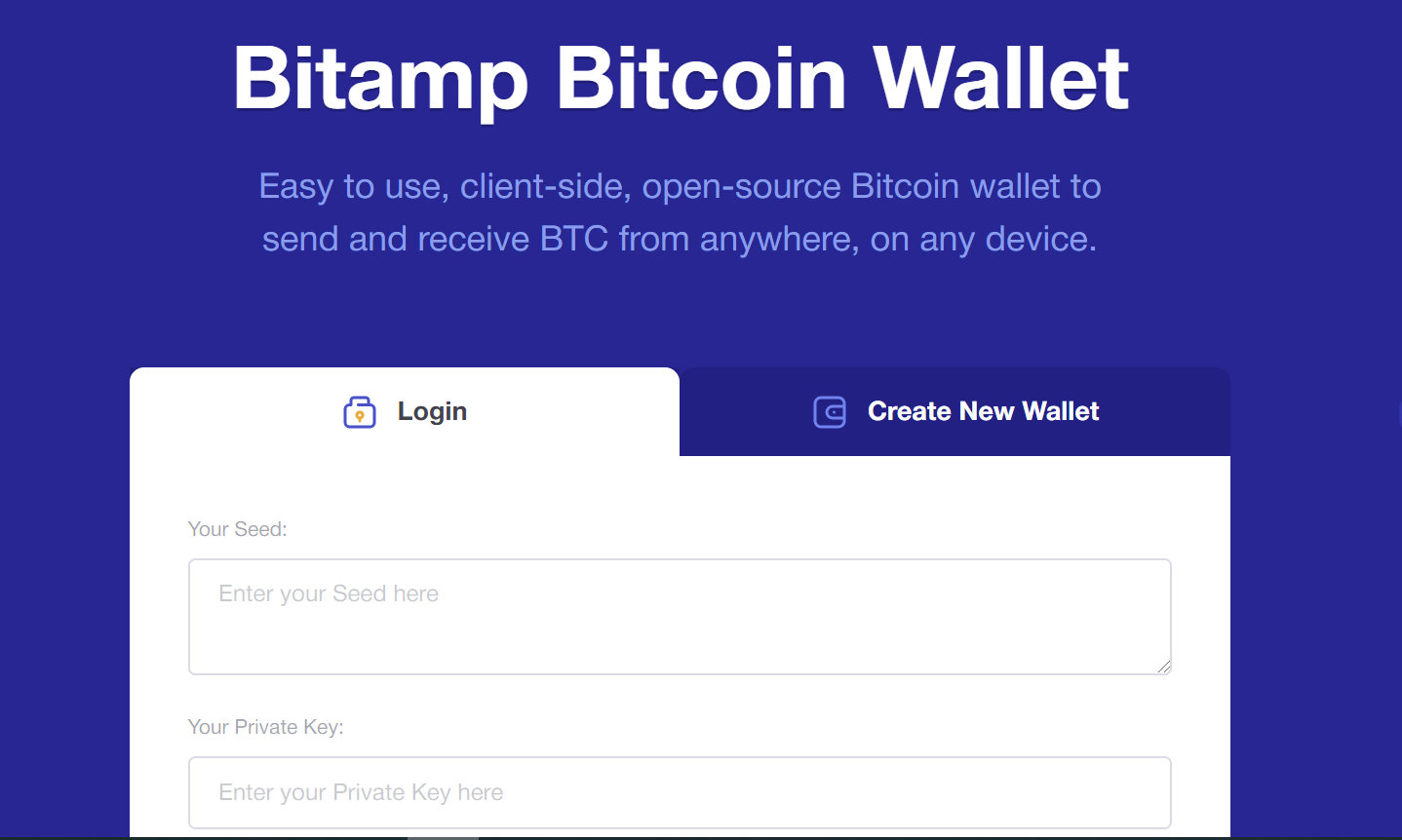 i want to open a bitcoin wallet